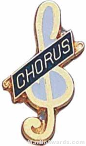 "3/4"" Enameled Chorus Pin"