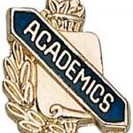"3/8"" Academics Scholastic Award Pin"