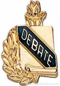 "3/8"" Debate School Award Pins"