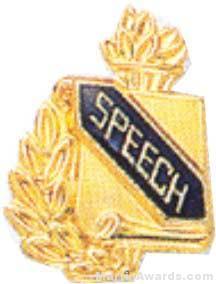 """3/8"""" Speech Academic Award Pins"""