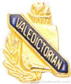 "3/8"" Valedictorian School Award Pins"