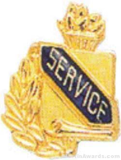"3/8"" Service School Award Pins"