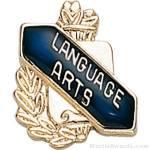 3/8″ Language Art School Award Pins 1