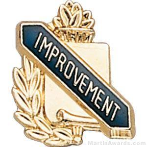 "3/8"" Improvement School Award Pins"