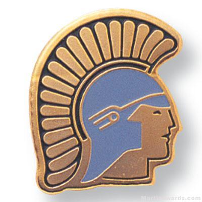 11/16″ Trojan Mascot Lapel Pin 1