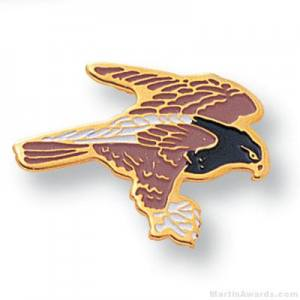 Hawk Mascot Lapel Pin