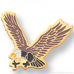 Eagle Mascot Lapel Pin