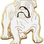 7/8″ Enameled Bull Dog Mascot Pin 1