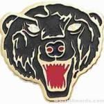 7/8″ Enameled Bear Mascot Pin 1