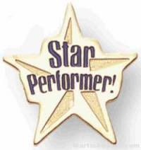 Star Performer Soft Enamel Lapel Pin