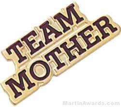 "13/16"" Etched Soft Enamel Team Mother Chenille Letter Pin"