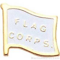 "1 5/8"" Etched Soft Enamel Flag Corps Chenille Letter Pin"