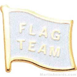 1/2″ Etched Soft Enamel Flag Team Chenille Letter Pin 1