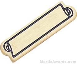 """15/16"""" Etched Soft Enamel Small Service Bar Chenille Letter Pin"""