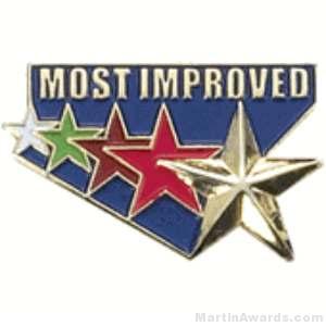 Most Improved Award Lapel Pin