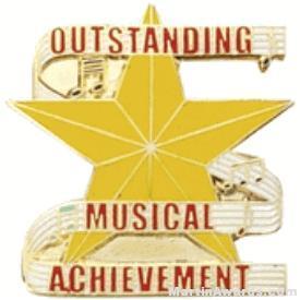 Outstanding Musical Achievement Lapel Pin