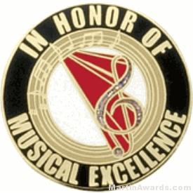 In Honor of Musical Excellence Award Lapel Pin