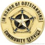 Communtiy Service Award Lapel Pin