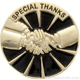 Special Thanks Award Lapel Pin