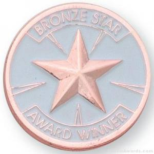 Bronze Star Award Lapel Pin