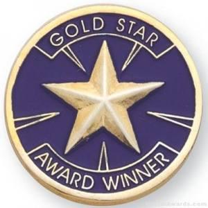 Gold Star Award Lapel Pin