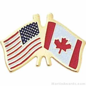 Canadian American Flag Pins 1