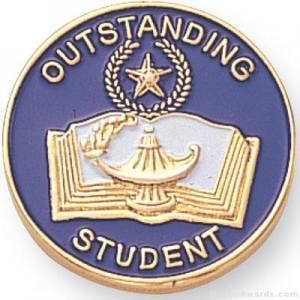 Outstanding Student Lapel Pin