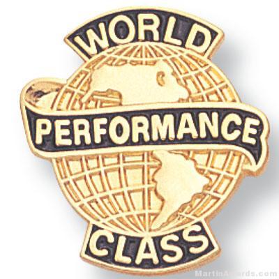 3/4″ World Class Performance Lapel Pin 1