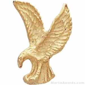"1"" Sculptured Eagle Gold Matte Finish Pin"
