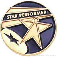 Star Performer Round Enamel Lapel Pins