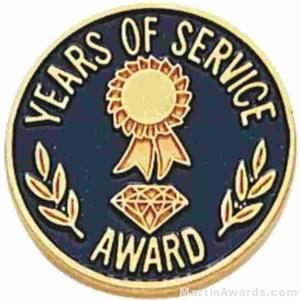 """3/4"""" Years Of Service Enameled Lapel Pins with Quality Clutch"""