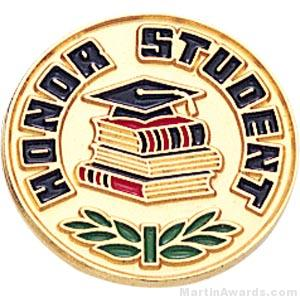 3/4″ Honor Student Round Enameled Lapel Pins 1