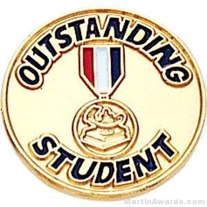 Outstanding Student Enamel Lapel Pins
