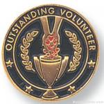 "3/4"" Outstanding Volunteer Lapel Pin"