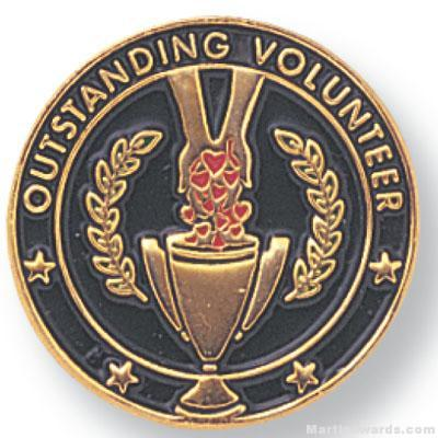 3/4″ Outstanding Volunteer Lapel Pin 1
