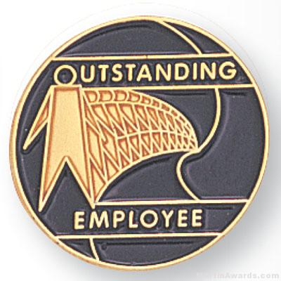 "3/4"" Outstanding Employee Lapel Pin"