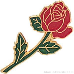 Red Rose Enamel Custom Lapel Pins
