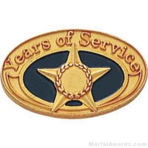 Years Of Service Enameled Lapel Pins