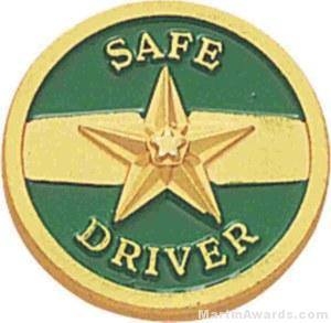 Safe Driver Enameled Lapel Pins