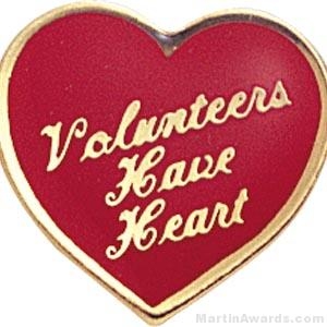 Volunteers Have Heart Custom Lapel Pins
