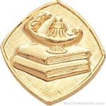 "5/8"" Lamp Or Learning Custom Lapel Pins"