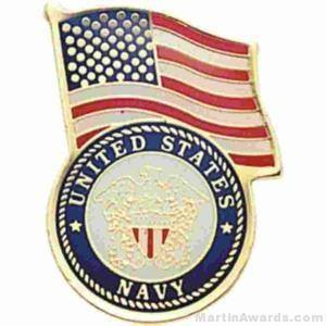 "3/4"" U.S. Navy American Flag Pins"