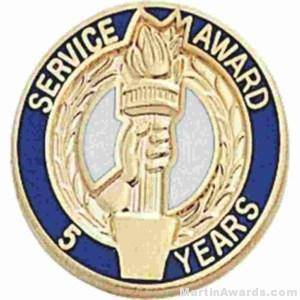 "3/4"" Service Recognition Award Pins 5 Years"