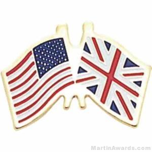 3/4″ British American Flag Pins 1