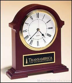Mahogany Finish Napoleon Clock