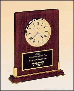 Flat Rosewood Desktop Clock