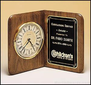 Walnut Desk Clock