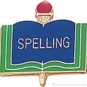 """3/4"""" Spelling School Award Pins"""