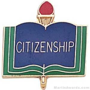 """3/4"""" Citizen School Award Pins"""