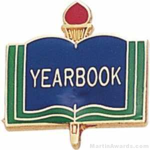"3/4"" Yearbook School Award Pins"
